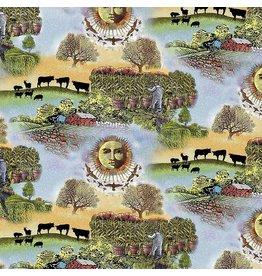 Sykel Fabrics Old Farmers Almanac, Celestial Scenic, Fabric Half-Yards 10332
