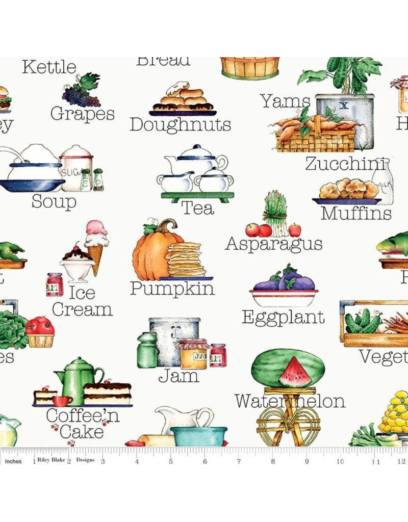 PD's Riley Blake Collection Hungry Animals, Alphabet Soup in Off White, Dinner Napkin