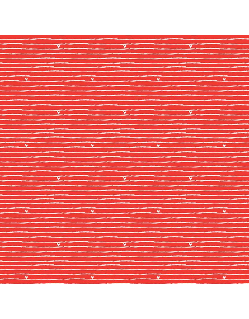 Riley Blake Fabrics SOLD OUT-From the Heart, Stripe in Valentine Red, Fabric Half-Yards C10054R