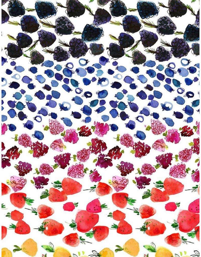 August Wren Tree of Life, Fruit Ombre in Multi, Fabric Half-Yards STELLA-DJL1757