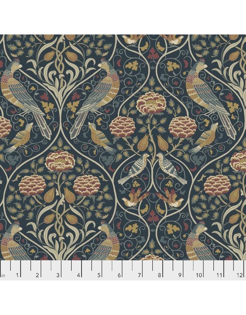 William Morris & Co. Orkney, Seasons by May in Indigo, Fabric Half-Yards PWWM044
