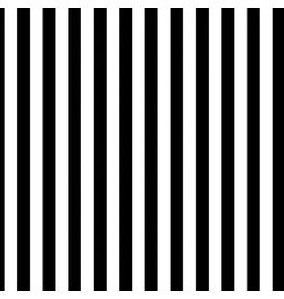 Tula Pink Linework, Tent Stripe in Paper, Black and White Stripe, Fabric Half-Yards PWTP069