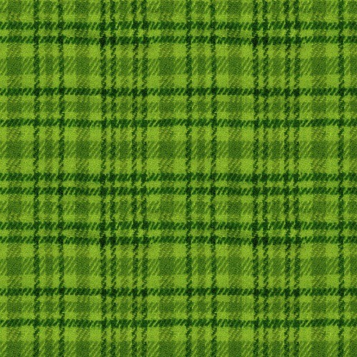 Studio E Yarn Dyed Cotton Flannel, Color Catchers Plaid in Lime, Fabric Half-Yards