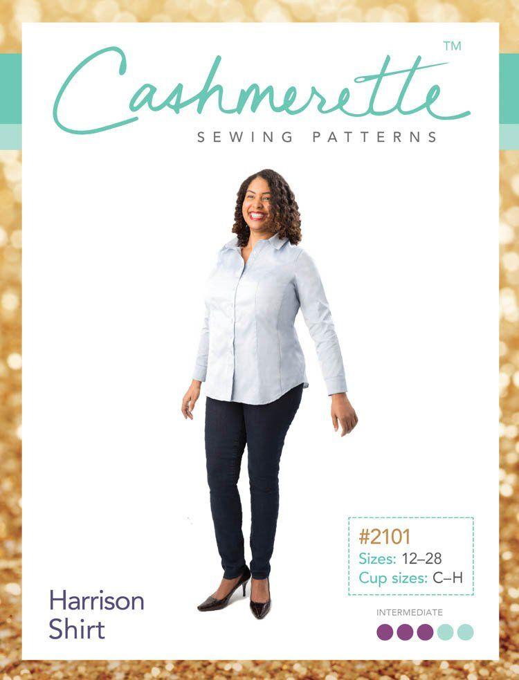 """Cashmerette Cashmerette """"Harrison Shirt"""" Paper Pattern"""