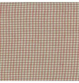 Moda Woven, Snowfall Ice Merrily in Aqua Check, Fabric Half-Yards