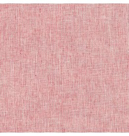 Robert Kaufman Linen Essex Yarn Dyed Homespun in Scarlet, Fabric Half-Yards