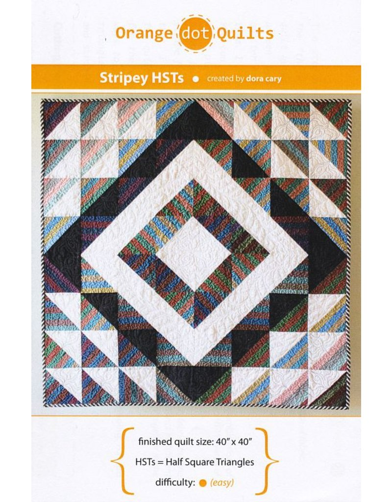 Orange Dot Quilts Orange Dot Quilt's Stripey Half Square Triangles Pattern