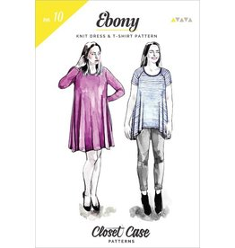 "Closet Case Patterns Closet Case ""Ebony T-Shirt & Knit Dress"" Pattern"