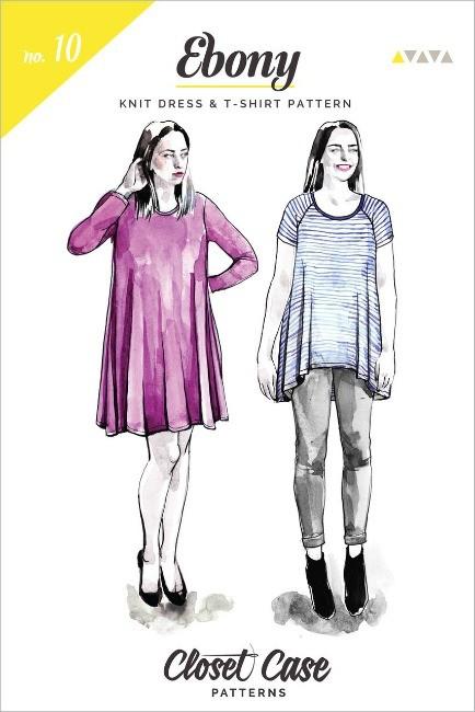 "Closet Case Patterns Closet Case ""Ebony T-Shirt & Knit Dress"" Pattern"