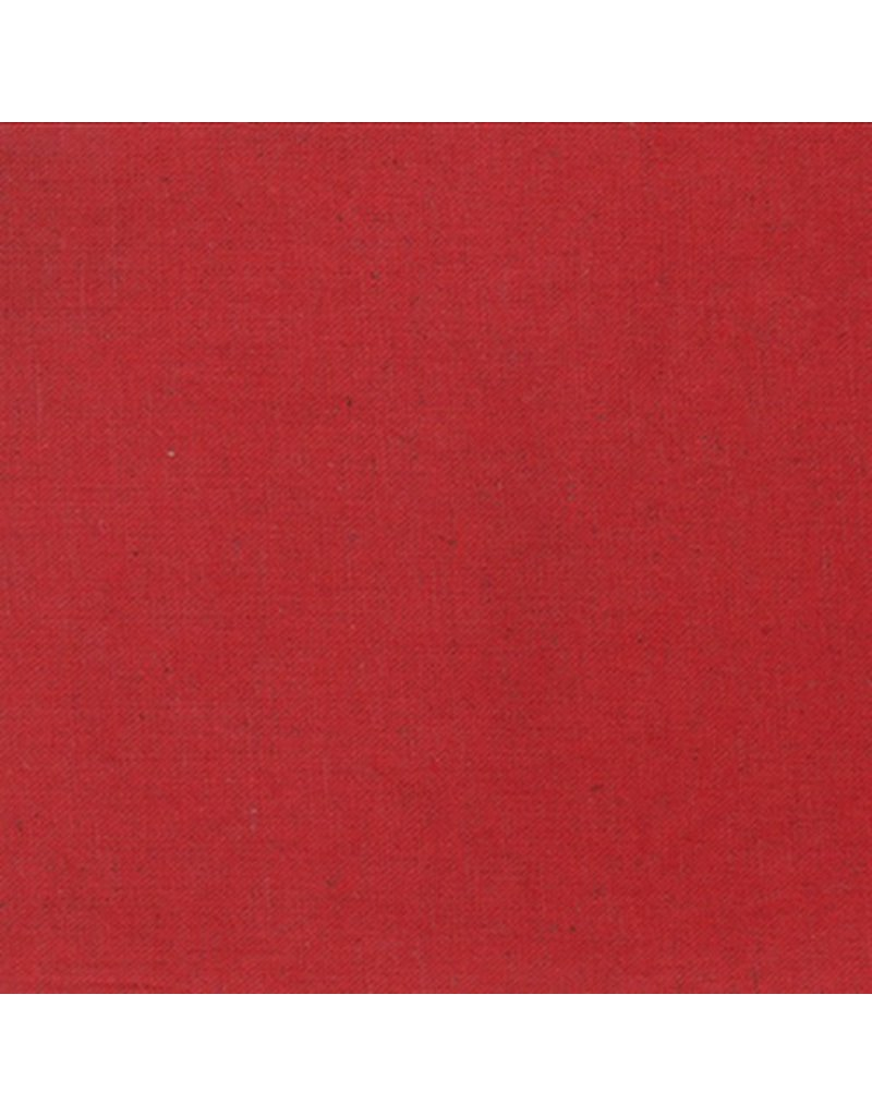 "Moda Linen Mochi Solid in Red, Fabric Half-Yards (ONE 25"" CUT REMAINING)"