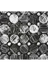 PD's Alexander Henry Collection Black and White, Toulouse in Black, Dinner Napkin