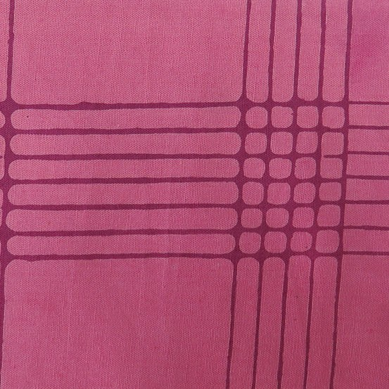 Alison Glass Chroma - A Handcrafted Collection, Plaid in Plum, Fabric Half-Yards AB-8132-E1