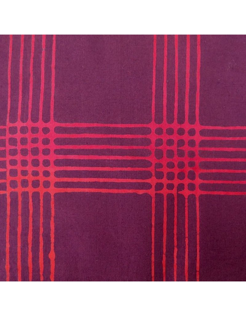 Alison Glass Chroma - A Handcrafted Collection, Plaid in Eggplant, Fabric Half-Yards 8132-R1