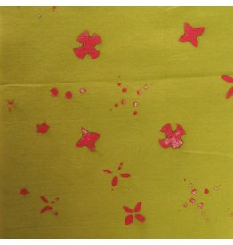 Alison Glass Chroma - A Handcrafted Collection, Scatter in Moss, Fabric Half-Yards