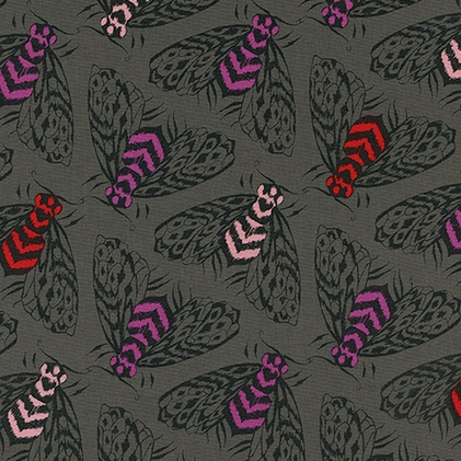 PD's Sarah Watts Collection Magic Forest, Bees in Charcoal, Dinner Napkin