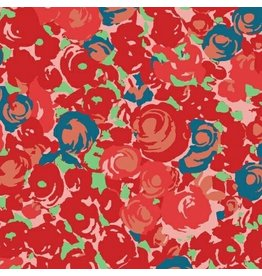 Victoria Findlay Wolfe ON SALE-Futurum, Grow in Warm, Fabric Half-Yards