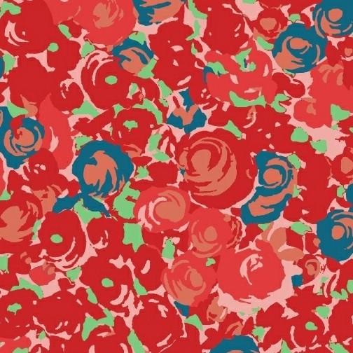 Victoria Findlay Wolfe Futurum, Grow in Warm, Fabric Half-Yards