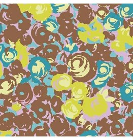 Victoria Findlay Wolfe ON SALE-Futurum, Grow in Brown, Fabric Half-Yards