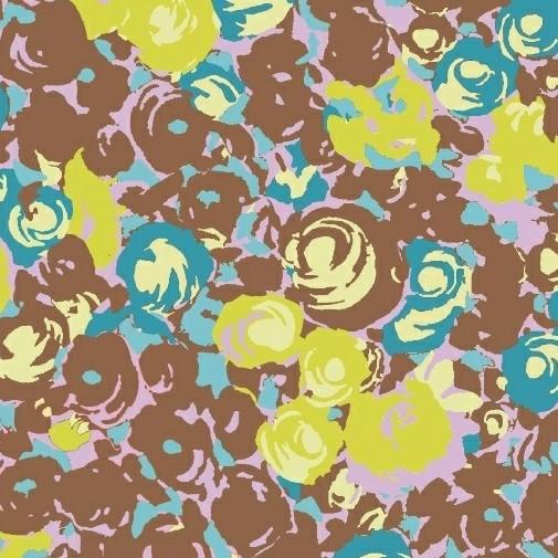 Victoria Findlay Wolfe ON SALE-Futurum, Grow in Brown, Fabric Half-Yards