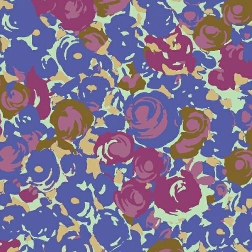 Victoria Findlay Wolfe Futurum, Grow in Cool, Fabric Half-Yards