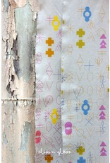 Alison Glass Linen/Cotton Tailored Cloth, Adorn, Symbolic in Warm.jpg, Fabric Half-Yards