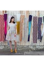 Alison Glass Linen/Cotton Tailored Cloth, Adorn, Symbolic in Cool, Fabric Half-Yards