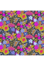 "Alison Glass Cotton Lawn, Adorn, Miniature Garden in Ebony 54"", Fabric Half-Yards"