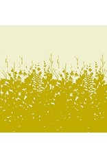 "Alison Glass Cotton Lawn, Adorn, Silhouette in Gold 54"", Fabric Half-Yards"