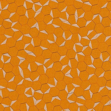 PD's Jennifer Sampou Collection Shimmer On, Hexies in Saffron with Metallic, Dinner Napkin