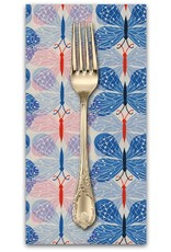 PD's Cotton + Steel Collection Beauty Shop, Good Luck in Blue, Dinner Napkin