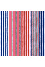 Kaffe Fassett Kaffe Collective, Regimental Stripe in Contrast, Fabric Half-Yards  PWGP163