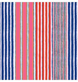 Kaffe Fassett Kaffe Collective 2019, Regimental Stripe in Contrast, Fabric Half-Yards  PWGP163
