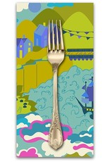 PD's Alison Glass Collection Diving Board, Liliput in Sunset, Dinner Napkin