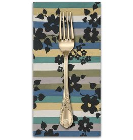 PD's Alexander Henry Collection A Ghastlie Stripe in Potion Blue, Dinner Napkin