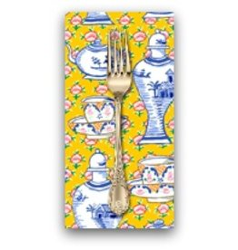 PD's Kaffe Fassett Collection Kaffe Collective, Delft Pots in Yellow, Dinner Napkin