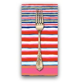 PD's Kaffe Fassett Collection Kaffe Collective, Regimental Stripe in Contrast, Dinner Napkin
