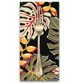 PD's Robert Kaufman Collection Sevenberry, Island Paradise in Black, Dinner Napkin