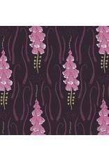 Rae Ritchie Magik Sanctuary, Foxglove in Blackberry, Fabric Half-Yards STELLA-SRR860