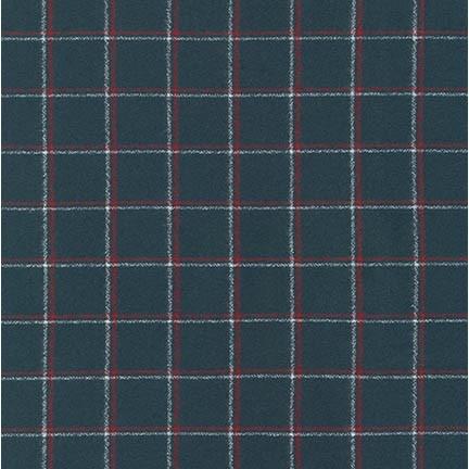 Robert Kaufman Yarn Dyed Cotton Flannel, Mammoth Flannel in Steel, Fabric Half-Yards SRKF-14881-185
