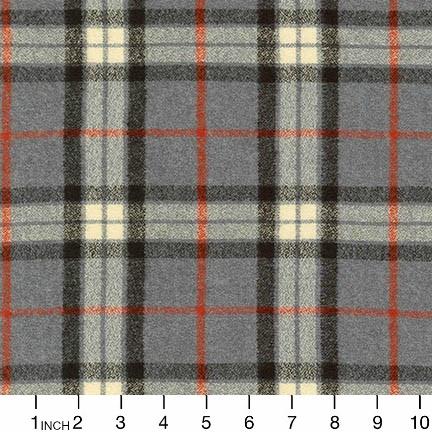 Robert Kaufman Yarn Dyed Cotton Flannel, Mammoth Flannel in Light Grey, Fabric Half-Yards SRKF-14884-12