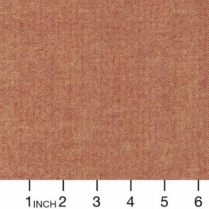 Robert Kaufman Yarn Dyed Cotton Flannel, Shetland Flannel, Herringbone in Chestnut, Fabric Half-Yards