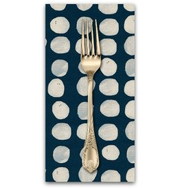 PD's Alexia Abegg Collection Sienna, Pebbles in Indigo, Dinner Napkin
