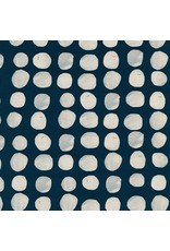 PD's Alexia Abegg Collection Sienna, Pebbles in Indigo, Dinner Napkin