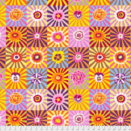 PD's Kaffe Fassett Collection Kaffe Collective, Sunburst in Bright, Dinner Napkin