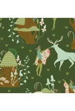 Rae Ritchie ON SALE-Woodland Nymph, Woodland Nymphs in Clover, Fabric Half-Yards STELLA-SRR902