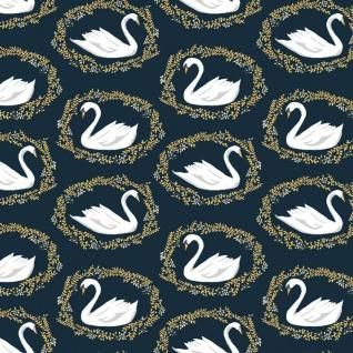 Dear Stella Woodland Nymph, Sleeping Beauty Black Swan in Midnight, Fabric Half-Yards STELLA-913
