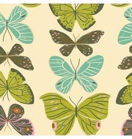 Rae Ritchie ON SALE-Woodland Nymph, Butterflies in Vanilla, Fabric Half-Yards STELLA-SRR904