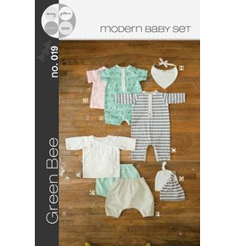 Green Bee Patterns Green Bee's Modern Baby Layette Pattern