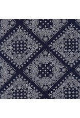 Robert Kaufman Sevenberry, Bandana in Navy, Fabric Half-Yards SB-82103D2-4