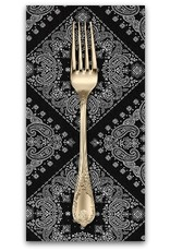PD's Robert Kaufman Collection Sevenberry, Bandana in Black, Dinner Napkin